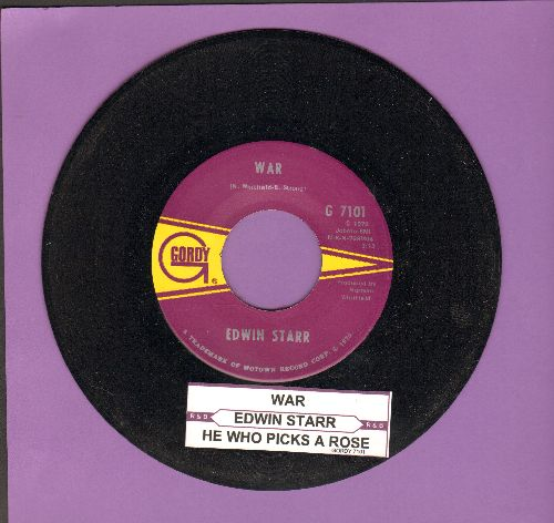 Starr, Edwin - War/He Who Picks A Rose (with juke box label) - NM9/ - 45 rpm Records