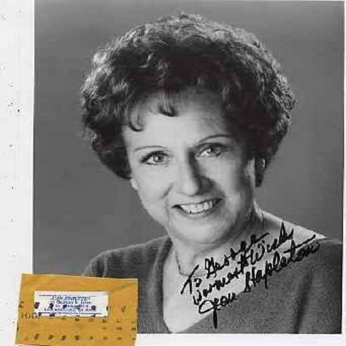 Stapleton, Jean - Jean Stapleton - Personally Autographed 8 X 10 black & white photo, signed To George, warmest wishes, Jean Stapleton, comes with actual return address label of Fan-Club President - This is an authentic autographed picture of the actress