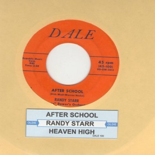 Starr, Randy - After School/Heaven High (Man So Low) (with juke box label) - EX8/ - 45 rpm Records