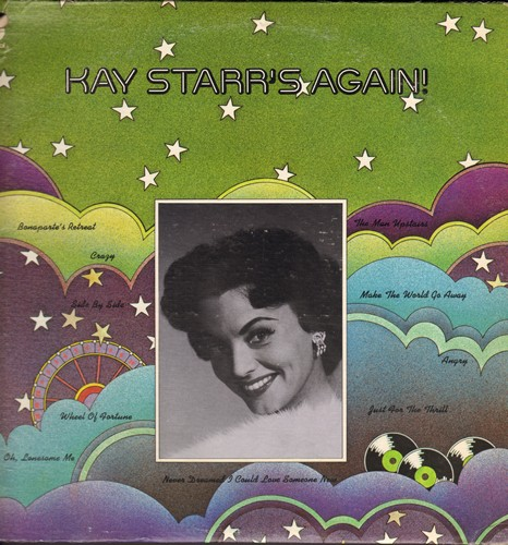 Starr, Kay - Kay Starr's Again: Crazy, Side By Side, Wheel Of Fortune, The Man Upstairs (Vinyl STEREO LP record) - NM9/VG7 - LP Records