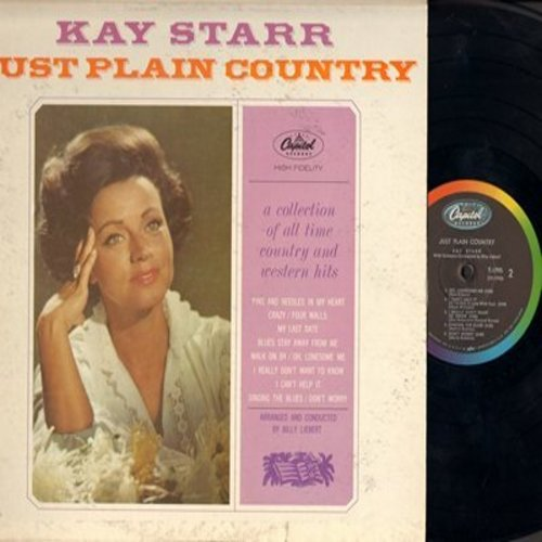Starr, Kay - Just Plain Country: Crazy, My Last Date, Walk On By, Snging The Blues, I Really Don't Want To Know (Vinyl MONO LP record) - NM9/VG6 - LP Records