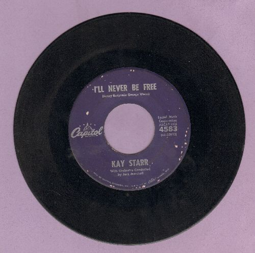Starr, Kay - I'll Never Be Free/Nobody - VG7/ - 45 rpm Records