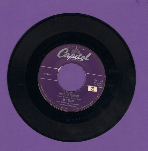 Starr, Kay - Wheel Of Fortune/I Wanna Love You - EX8/ - 45 rpm Records