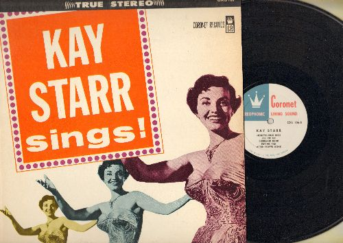 Starr, Kay - Kay Starr Sings!: Stormy Weather, All Of Me, Sweet Lorraine, I'm Confessin', Dixieland Band (Vinyl STEREO LP record) - EX8/EX8 - LP Records