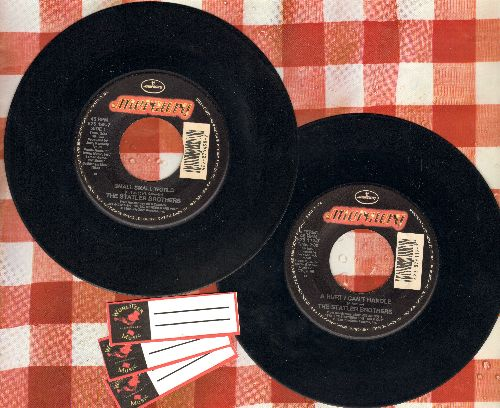 Statler Brothers - 2 Statler Brothers 45s for the price of 1! Hits include Small Small World/A Hurt I Can't Handle. Shipped in plain white paper sleeves, with 3 blank juke box labels) - NM9/ - 45 rpm Records