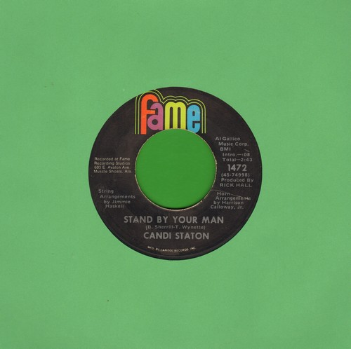 Staton, Candi - Stand By Your Man/How Can I Put Out The Flame - EX8/ - 45 rpm Records