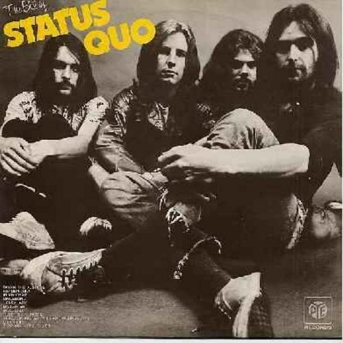 Status Quo - The Best Of: Down The Dustpipe, Umleitung, Mean Girl, In My Chair, Spinning Wheel Blues (Vinyl STEREO LP record, British Pressing) - M10/EX8 - LP Records