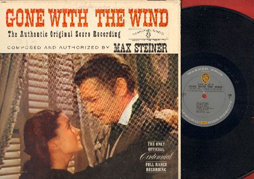 Gone With The Wind - Gone With The Wind - The Authentic Original Score Recording, Composed and Authorized by Max Steiner - The Only Original Centennial Full Range Recording (Vinyl MONO LP record, gate-fold cover) - EX8/VG7 - LP Records