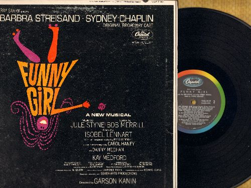 Streisand, Barbra - Funny Girl - A New Musical - Includes songs Don't Rain On My Parade, People, I'm The Greatest Star (Vinyl STEREO LP record, gate-fold cover, RARE VAS Pressing!) - NM9/EX8 - LP Records