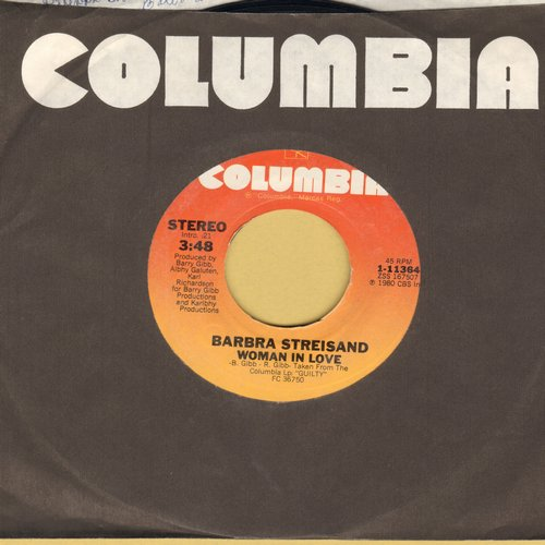 Streisand, Barbra - Woman In Love/Run Wild - NM9/ - 45 rpm Records
