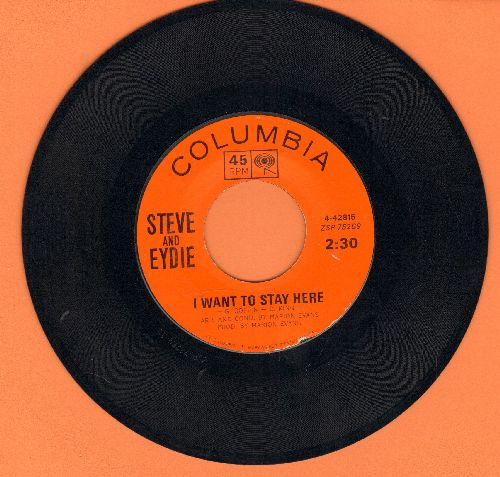 Lawrence, Steve & Eydie Gorme - I Want To Stay Here/Ain't Love - EX8/ - 45 rpm Records
