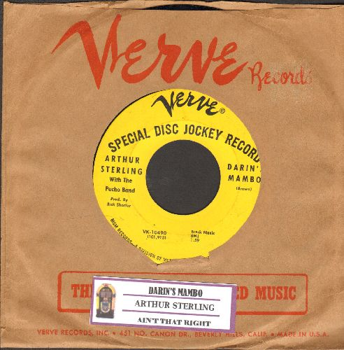 Sterling, Arthur - Darin's Mambo/Ain't That Ricght (RARE vintage Jazz 2-sider, DJ advance pressing with Verve company seeve and juke box label) - EX8/ - 45 rpm Records