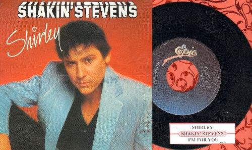 Stevens, Shakin' - Shirley/I'm For You (DUTCH Pressing with juke box label and picture sleeve) - NM9/NM9 - 45 rpm Records