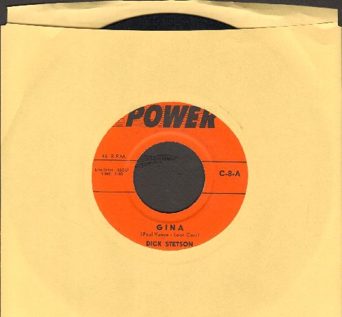 Stetson, Dick - Gina/What Kind Of Fool Am I (by Rob Robbins on flip-side) - VG7/ - 45 rpm Records
