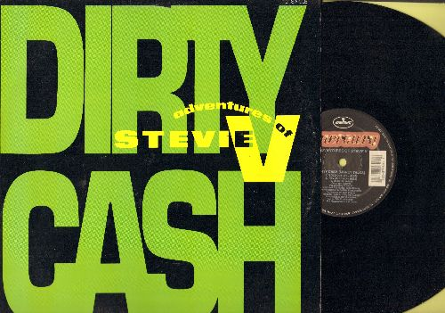Adventures Of Stevie V - Dirty Cash (5 Different Dance Club Mixes of the Hit on 12 inch vinyl Maxi Single, with picture cover) - NM9/EX8 - LP Records