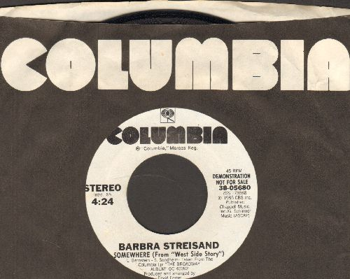 Streisand, Barbra - Somewhere (from -West Side Story-) (double-A-sided DJ advance pressing) - NM9/ - 45 rpm Records