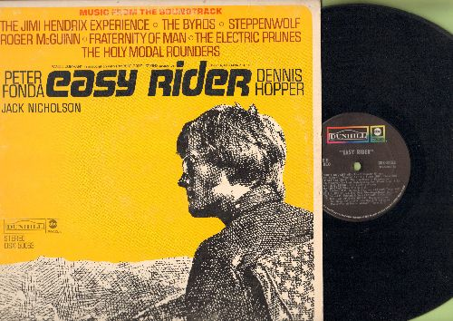 Easy Rider - Easy Rider: Original Motion Picture Sound Track featuring -Born To Be Wild- by Steppenwolf and music by The Byrds, Jimi Hendrix and others! (Vinyl STEREO LP record) - EX8/VG7 - LP Records
