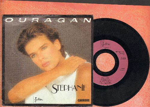 Stephanie - Ouragan/Irresistible (French Pressing with picture sleeve) - NM9/EX8 - 45 rpm Records