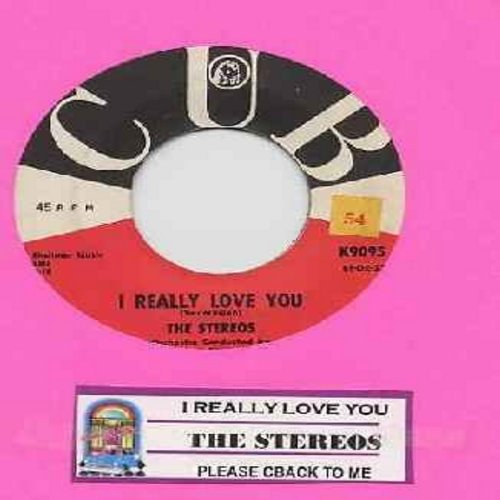 Stereos - I Really Love You/Please Come Back To Me (with juke box label) - VG6/ - 45 rpm Records