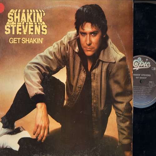 Stevens, Shakin' - Get Shakin': You Drive Me Crazy, This Ole House, Shotgun Boogie, Is A Bluebird Blue, Hot Dog (Vinyl STEREO LP record, DJ Promo Stamp embossed on upper left back cover) - NM9/VG7 - LP Records