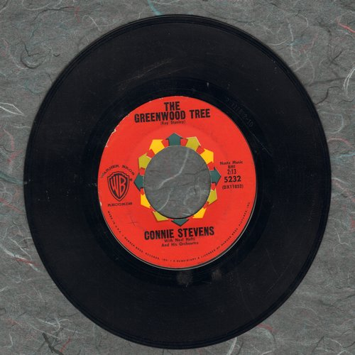 Stevens, Connie - The Greenwood Tree (ULTRA-Dreamy love ballad!)/If You Don't, Somebody Else Will - EX8/ - 45 rpm Records