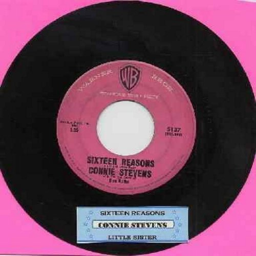 Stevens, Connie - Sixteen Reasons (Why I Love You)/Little Sister (with juke box label) - VG7/ - 45 rpm Records