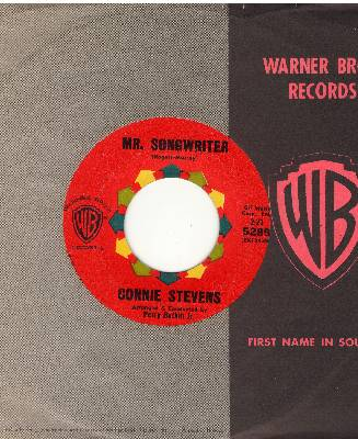 Stevens, Connie - Mr. Songwriter (Write Me A Song)/I Couldn't Say No (with Warner Brothers company sleeve) - NM9/ - 45 rpm Records
