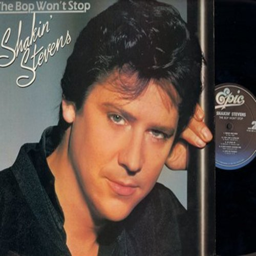 Stevens, Shakin' - The Bop Won't Stop: A Rockin' Good Way (duet with Bonnie Tyler), I Cry Just A Little Bit, A Love Worth Waiting For, Love Me Tonight (Vinyl LP record) (DJ copy) - NM9/NM9 - LP Records