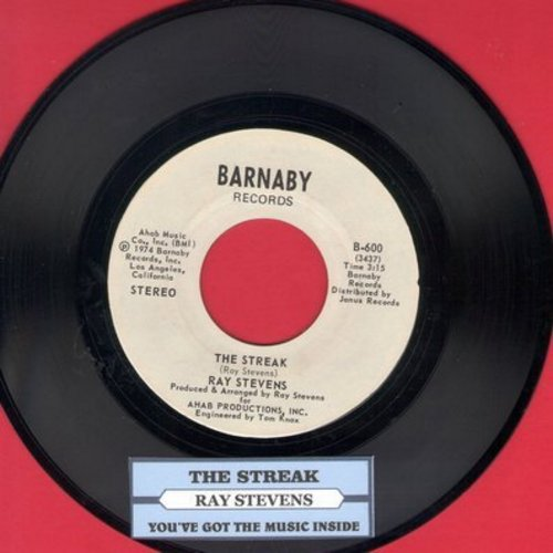 Stevens, Ray - The Streak/You've Got The Music Inside (with juke box label) - NM9/ - 45 rpm Records