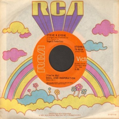 Lawrence, Steve & Eydie Gorme - (You're My) Soul And Inspiration/Now I Love The World Again (with RCA company sleeve) - EX8/ - 45 rpm Records
