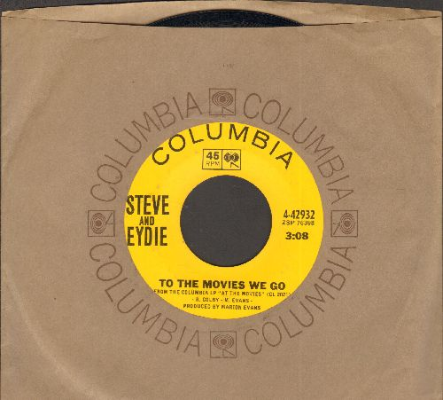 Lawrence, Steve & Eydie Gorme - To The Movies We Go/I can't Stop Talking About You (with vintage Columbia company sleeve) - EX8/ - 45 rpm Records