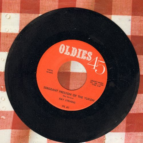 Stevens, Ray - Sergeant Preston Of The Yukon/Sugar Blues (by Ace Cannon on flip-side) (early re-issue) - NM9/ - 45 rpm Records