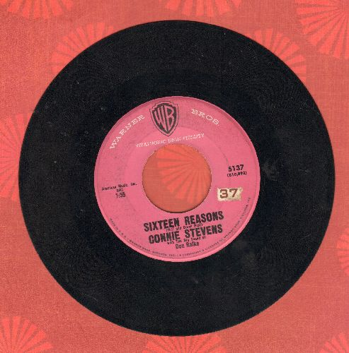 Stevens, Connie - Sixteen Reasons (Why I Love You)/Little Sister (pink label early pressing) - VG7/ - 45 rpm Records