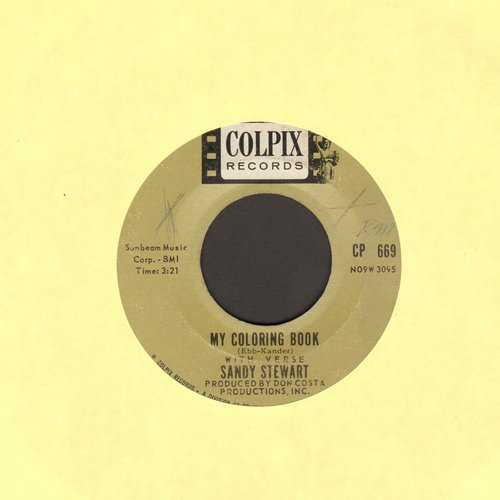 Stewart, Sandy - My Coloring Book/I Heard You Cried Last Night - EX8/ - 45 rpm Records