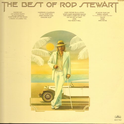 Stewart, Rod - The Best Of: Maggie May, Handbags & Gladrags, Pinball Wizard, Oh No Not My Baby (2 vinyl STEREO LP record set, gate-fold cover) - NM9/EX8 - LP Records