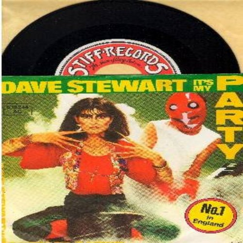 Stewart, Dave & Barbara Baskin - It's My Party (Althernative Rock version of Lesey Gore Teen Idol Favorite!)/Waiting In The Wings (British Pressing with picture sleeve) - NM9/EX8 - 45 rpm Records