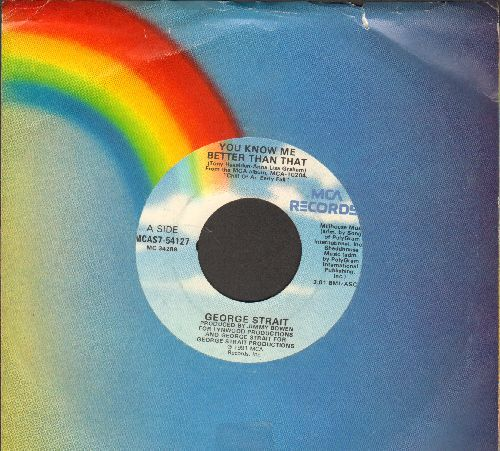 Strait, George - You Know Me Better Than Thay/Baby Blue (with MCA company sleeve) - NM9/ - 45 rpm Records