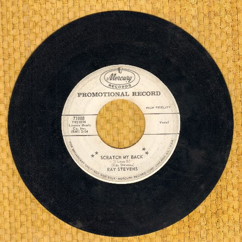 Stevens, Ray - Scratch My Back/When You Wish Upon A Star (DJ advance pressing) - VG6/ - 45 rpm Records