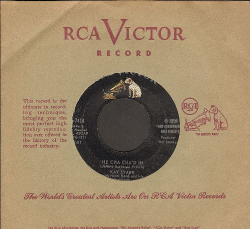 Starr, Kay - He Cha Cha'd In/Oh, How I Miss You Tonight (with RCA company sleeve) - VG7/ - 45 rpm Records