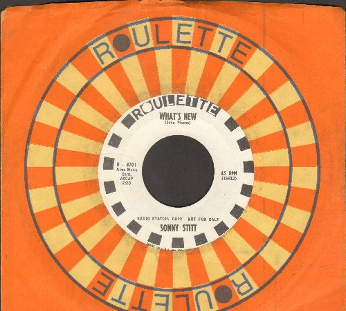 Stitt, Sonny - What's New/Morgan's Song (DJ advance pressing with Roulette company sleeve) - NM9/ - 45 rpm Records