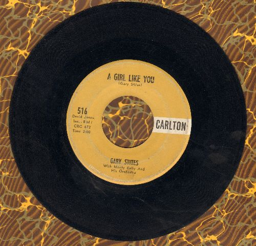 Stites, Gary - A Girl Like You/Hey Little Girl - VG7/ - 45 rpm Records
