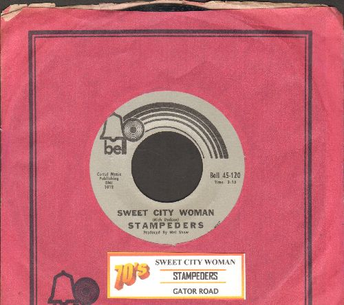 Stampeders - Sweet City Woman/Gator Road  (with Bell company sleeve and juke box label) - EX8/ - 45 rpm Records