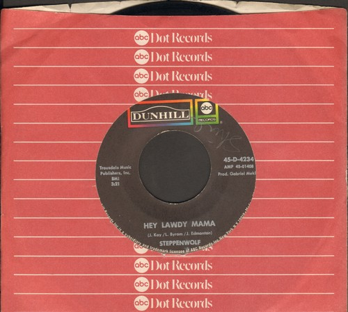 Steppenwolf - Twisted/Hey Lawdy Mama (with Dunhill company sleeve) - EX8/ - 45 rpm Records