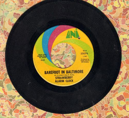 Strawberry Alarm Clock - Barefoot In Baltimore/An Angry Young Man (bb) - VG7/ - 45 rpm Records