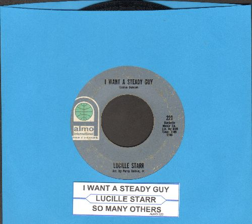 Starr, Lucille - I Want A Steady Guy/So Many Others (with juke box label) - EX8/ - 45 rpm Records