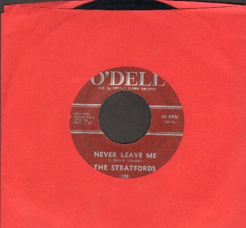 Stratfords - Never Leave Me/Enaj - VG7/ - 45 rpm Records