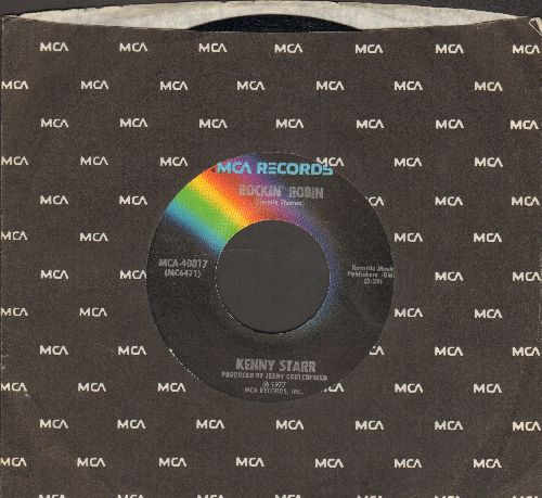 Starr, Kenny - Rockin' Robin (FANTASTIC up-dated Country version of R&B Classic!)/Hold Tight (with MCA company sleeve) - NM9/ - 45 rpm Records