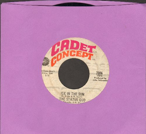 Status Quo - Ice In The Sun/When My Mind Is Not Live - EX8/ - 45 rpm Records