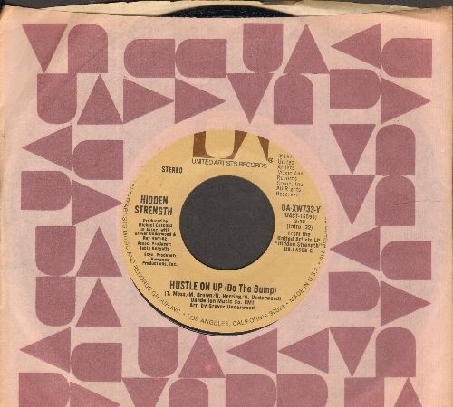 Hidden Strength - Hustle On Up (Do The Bump)/Hustle On Up (Do The Bump ) (Instrumental) (with United Artists company sleeve) - NM9/ - 45 rpm Records