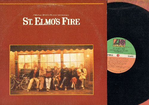 St. Elmo's Fire - St. Elmo's Fire - Original Motion Picture Soundtrack featuring the #1 Hit Title Song by John Parr (vinyl STEREO LP record) - NM9/EX8 - LP Records